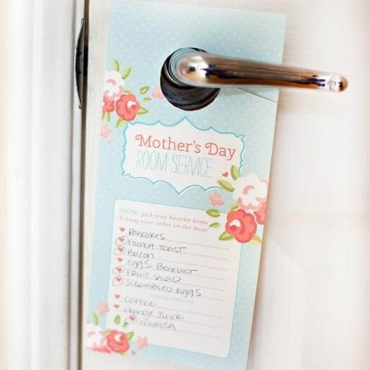 Room Service Door Tag Easy Last Minute Mothers Day DIY Homemade Crafting Gift Ideas Inspiration How To Make Tutorials Recipes Gifts To Make