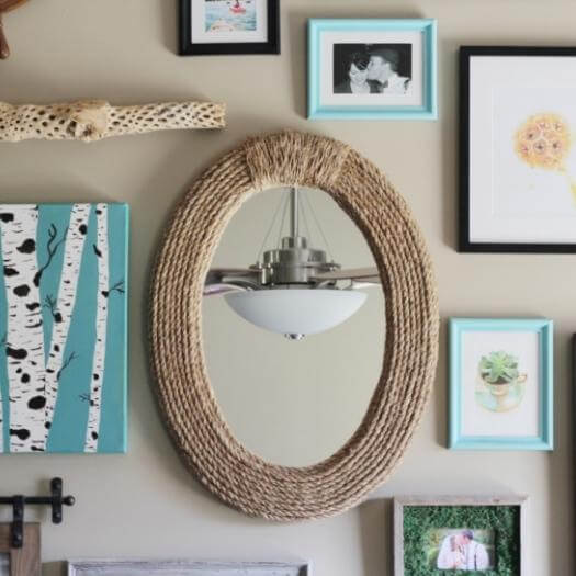 Rope Mirror Grandma Mothers Day DIY Homemade Crafting Gift Ideas Inspiration How To Make Tutorials Recipes Gifts To Make