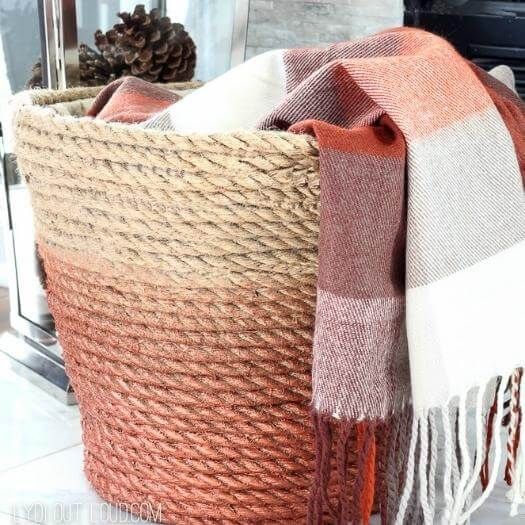 Rope Throw Basket Best Friend Mothers Day DIY Homemade Crafting Gift Ideas Inspiration How To Make Tutorials Recipes Gifts To Make