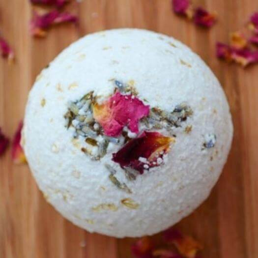Rose Lavender Bath Bomb Best Friend Mothers Day DIY Homemade Crafting Gift Ideas Inspiration How To Make Tutorials Recipes Gifts To Make