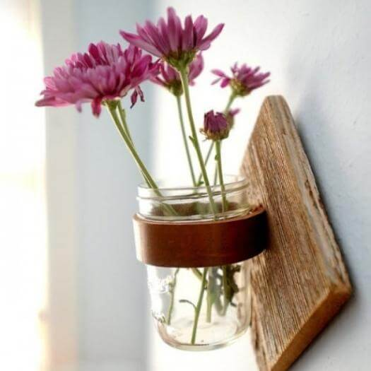 Rustic Mason Jar Sconce Grandma Mothers Day DIY Homemade Crafting Gift Ideas Inspiration How To Make Tutorials Recipes Gifts To Make