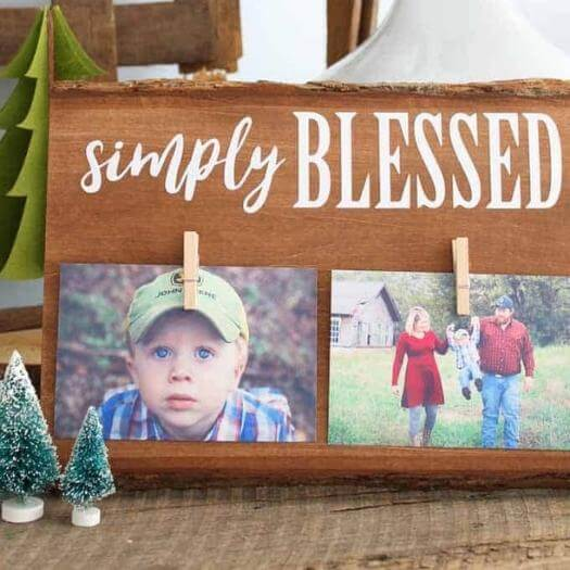 Rustic Wooden Frame Cheap Affordable Mothers Day DIY Homemade Crafting Gift Ideas Inspiration How To Make Tutorials Recipes Gifts To Make