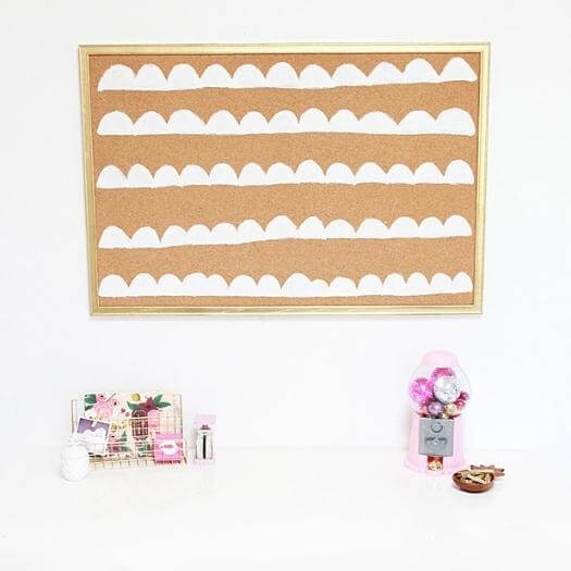 Scalloped Cork Board Personalized Mothers Day DIY Homemade Crafting Gift Ideas Inspiration How To Make Tutorials Recipes Gifts To Make