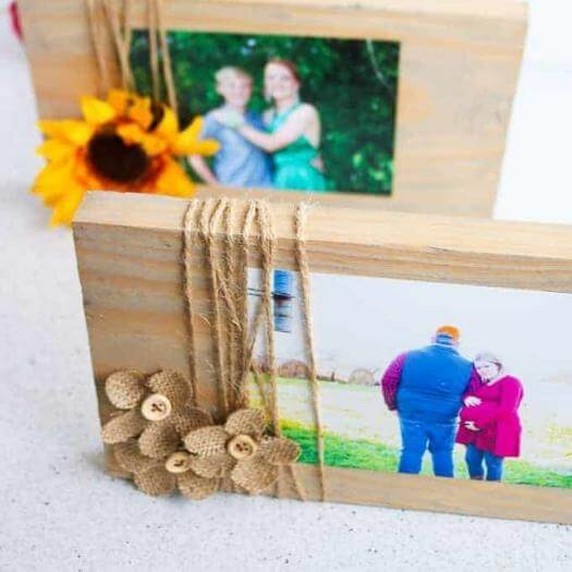 Scrap Wood Frame Cheap Affordable Mothers Day DIY Homemade Crafting Gift Ideas Inspiration How To Make Tutorials Recipes Gifts To Make