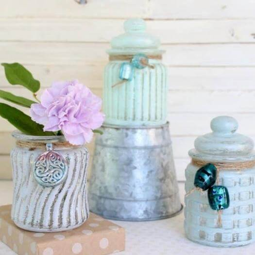 Sea Glass Jars Cheap Affordable Mothers Day DIY Homemade Crafting Gift Ideas Inspiration How To Make Tutorials Recipes Gifts To Make
