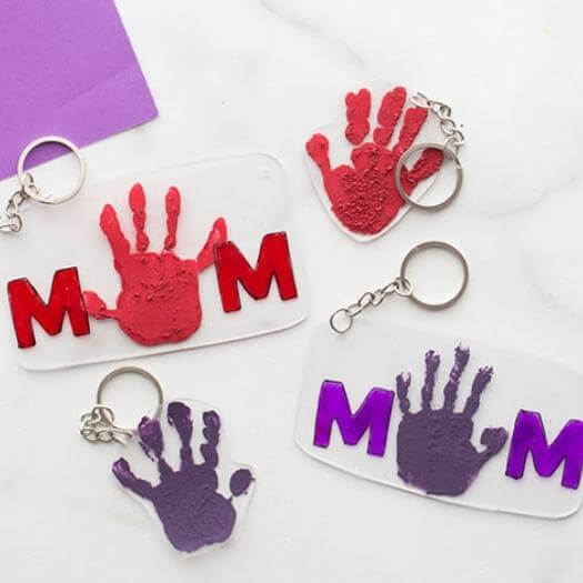 Shrinky Dink Keychain Best Mothers Day DIY Homemade Crafting Gift Ideas Inspiration How To Make Tutorials Recipes Gifts To Make