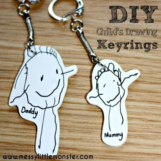 Shrinky Dinks Keyring Easy Last Minute Mothers Day DIY Homemade Crafting Gift Ideas Inspiration How To Make Tutorials Recipes Gifts To Make