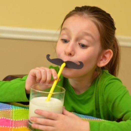 Silly Moustache Straw Funny Mothers Day DIY Homemade Crafting Gift Ideas Inspiration How To Make Tutorials Recipes Gifts To Make
