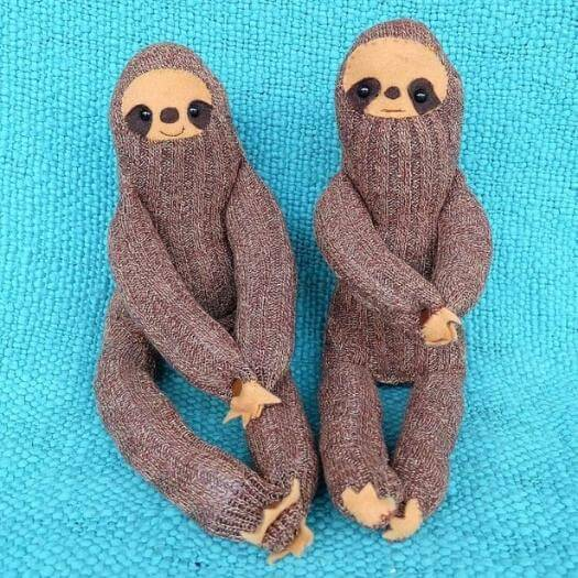 Sock Sloth Personalized Mothers Day DIY Homemade Crafting Gift Ideas Inspiration How To Make Tutorials Recipes Gifts To Make