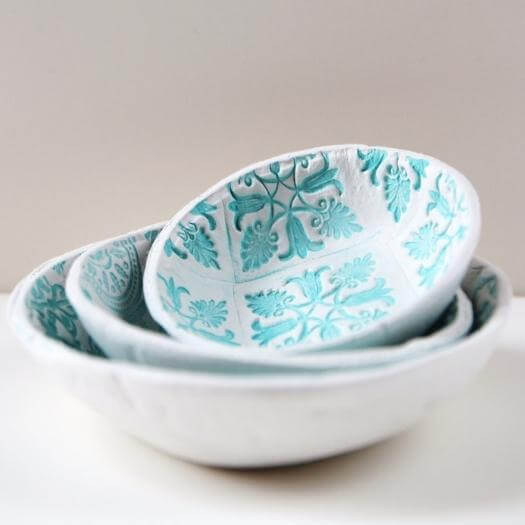 Stamped Clay Bowl Best Friend Mothers Day DIY Homemade Crafting Gift Ideas Inspiration How To Make Tutorials Recipes Gifts To Make