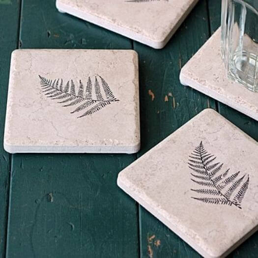 Stamped Coasters Kids Mothers Day DIY Homemade Crafting Gift Ideas Inspiration How To Make Tutorials Recipes Gifts To Make