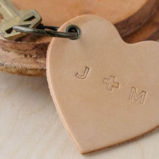 Stamped Leather Keychain Best Mothers Day DIY Homemade Crafting Gift Ideas Inspiration How To Make Tutorials Recipes Gifts To Make