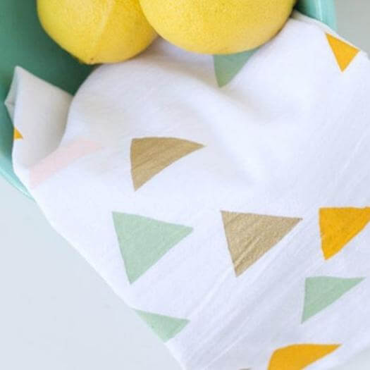 Stenciled Tea Towels Best Mothers Day DIY Homemade Crafting Gift Ideas Inspiration How To Make Tutorials Recipes Gifts To Make