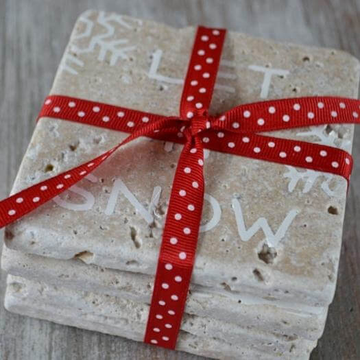 Stone Coasters Sister Mothers Day DIY Homemade Crafting Gift Ideas Inspiration How To Make Tutorials Recipes Gifts To Make