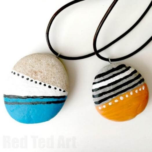 Stone Pendants Easy Last Minute Mothers Day DIY Homemade Crafting Gift Ideas Inspiration How To Make Tutorials Recipes Gifts To Make