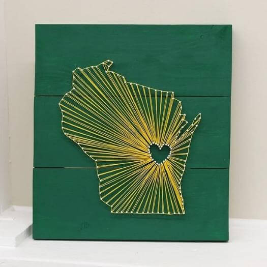 String Art Best Mothers Day DIY Homemade Crafting Gift Ideas Inspiration How To Make Tutorials Recipes Gifts To Make