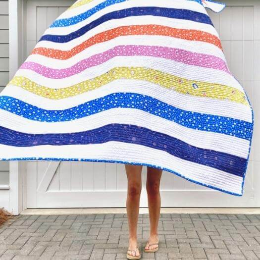 Stripey Quilt Personalized Mothers Day DIY Homemade Crafting Gift Ideas Inspiration How To Make Tutorials Recipes Gifts To Make