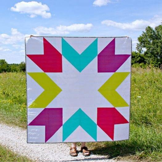 Supersized Quilt Blocks Grandma Mothers Day DIY Homemade Crafting Gift Ideas Inspiration How To Make Tutorials Recipes Gifts To Make
