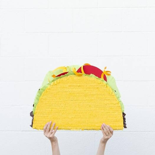 Taco Pinata Mexican Mothers Day DIY Homemade Crafting Gift Ideas Inspiration How To Make Tutorials Recipes Gifts To Make