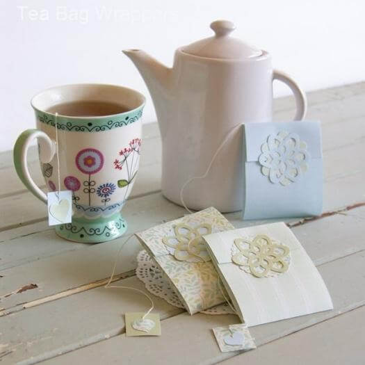 Tea Bag Wrappers Easy Last Minute Mothers Day DIY Homemade Crafting Gift Ideas Inspiration How To Make Tutorials Recipes Gifts To Make