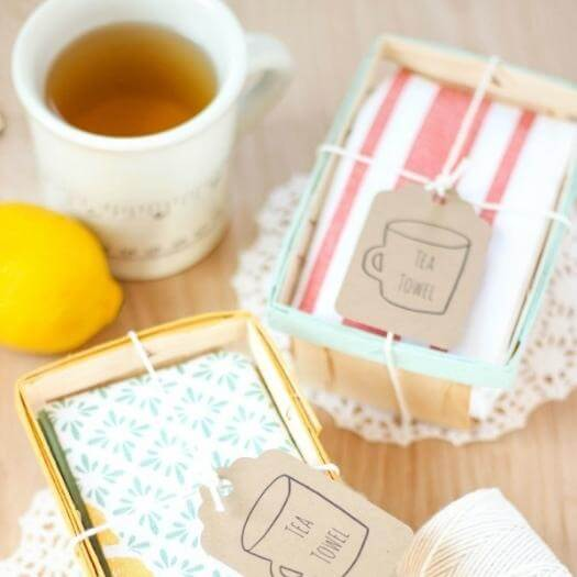 Tea Towels Personalized Mothers Day DIY Homemade Crafting Gift Ideas Inspiration How To Make Tutorials Recipes Gifts To Make