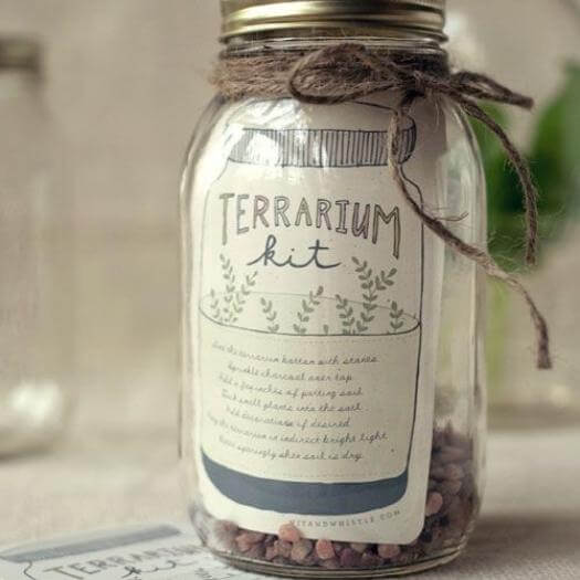 Terrarium Kit Best Mothers Day DIY Homemade Crafting Gift Ideas Inspiration How To Make Tutorials Recipes Gifts To Make