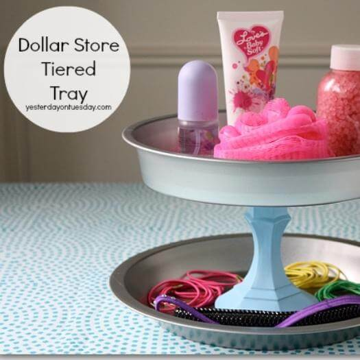 Tiered Tray Best Friend Mothers Day DIY Homemade Crafting Gift Ideas Inspiration How To Make Tutorials Recipes Gifts To Make