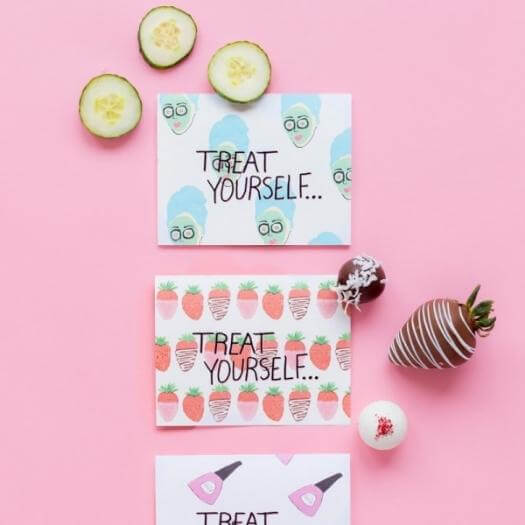 Treat Yourself Card Easy Last Minute Mothers Day DIY Homemade Crafting Gift Ideas Inspiration How To Make Tutorials Recipes Gifts To Make