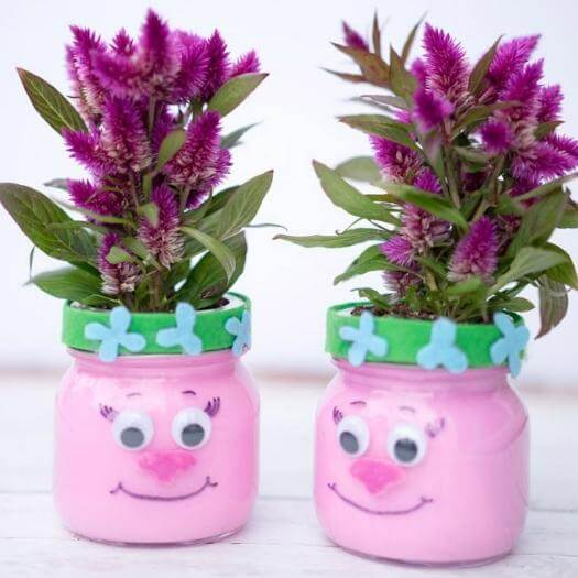 Trolls Mason Jars Unique Mothers Day DIY Homemade Crafting Gift Ideas Inspiration How To Make Tutorials Recipes Gifts To Make