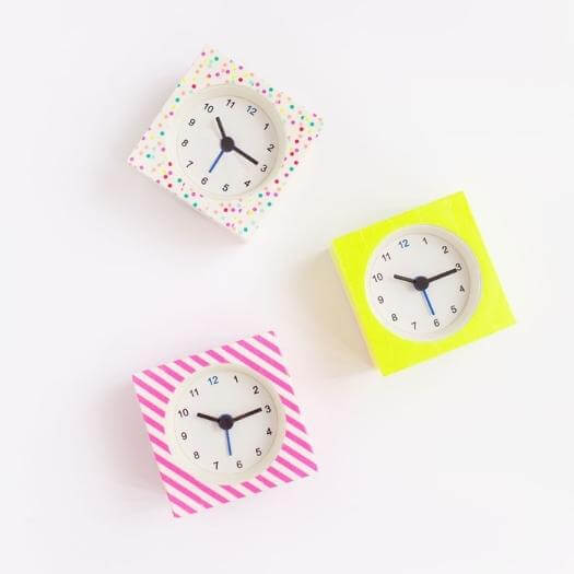 Washi Tape Clock Best Mothers Day DIY Homemade Crafting Gift Ideas Inspiration How To Make Tutorials Recipes Gifts To Make