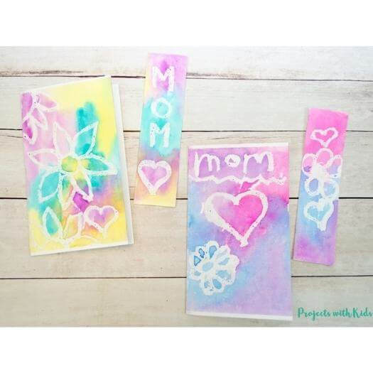Watercolor Project Kids Mothers Day DIY Homemade Crafting Gift Ideas Inspiration How To Make Tutorials Recipes Gifts To Make