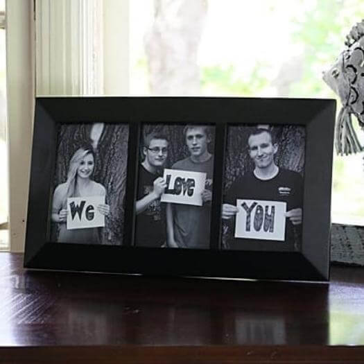 We Love You Frame Cheap Affordable Mothers Day DIY Homemade Crafting Gift Ideas Inspiration How To Make Tutorials Recipes Gifts To Make