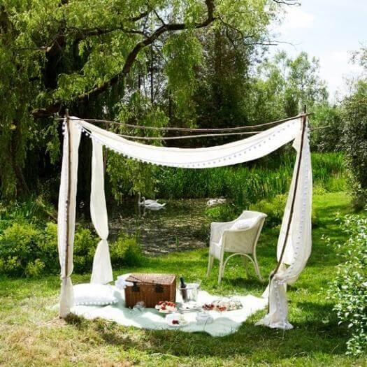 White Garden Canopy Unique Mothers Day DIY Homemade Crafting Gift Ideas Inspiration How To Make Tutorials Recipes Gifts To Make