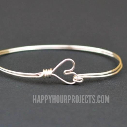 Wire Heart Bangle Unique Mothers Day DIY Homemade Crafting Gift Ideas Inspiration How To Make Tutorials Recipes Gifts To Make