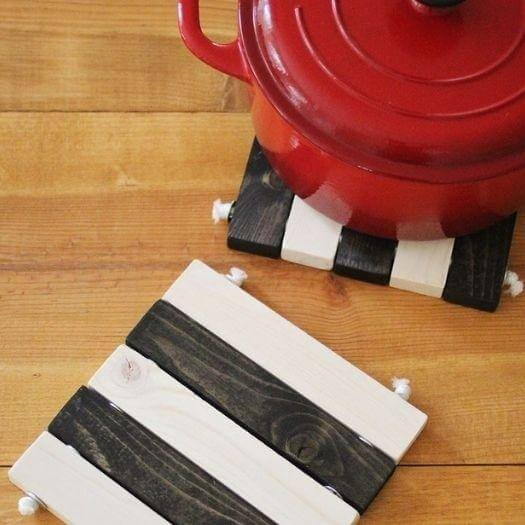 Wooden Trivet Set Sister Mothers Day DIY Homemade Crafting Gift Ideas Inspiration How To Make Tutorials Recipes Gifts To Make