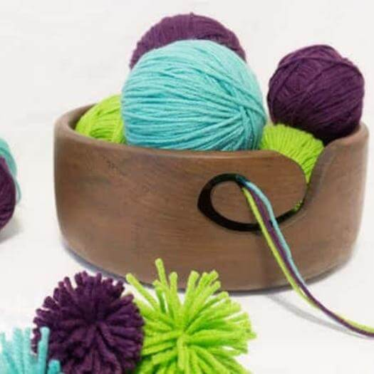Yarn Bowl Sister Mothers Day DIY Homemade Crafting Gift Ideas Inspiration How To Make Tutorials Recipes Gifts To Make