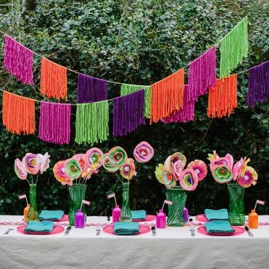Yarn Garland Mexican Mothers Day DIY Homemade Crafting Gift Ideas Inspiration How To Make Tutorials Recipes Gifts To Make