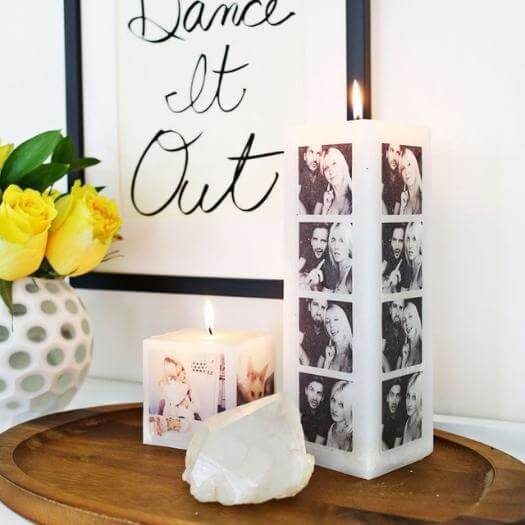 Your Own Photo Candle Personalized Mothers Day DIY Homemade Crafting Gift Ideas Inspiration How To Make Tutorials Recipes Gifts To Make